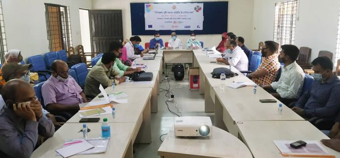 Representatives of a partner organisation in Rangpur attending a UNCC meeting recently.